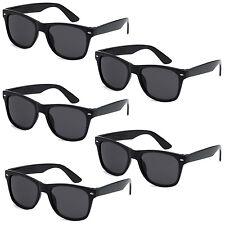 5 PAIR LOT Black Sunglasses Wholesale Small Medium Large Wayfarer Pack