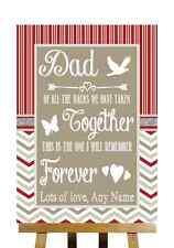 Rosso & Grigio Inverno Natale messaggio per il papà padre della sposa wedding segno