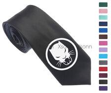 "Black Panther Symbol Men Woven Skinny 2.5"" Party Tie Necktie K35"