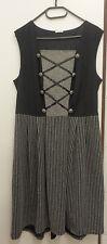 Damen Trachten Kleid  schwarz weiß  Gr. 42