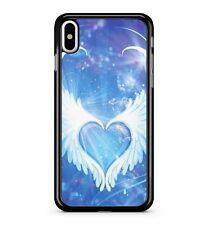 Blue Love Heart Snow White Celestial Heavenly Angel Wings 2D Phone Case Cover