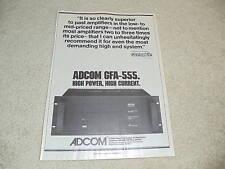 Adcom GFA-555 Amplifier Ad, 1979, 1 pg, Rare Ad!
