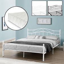 [en.casa]® Metallbett 90/120/140/180/200x200 Bett Bettgestell Doppelbett Ehebett