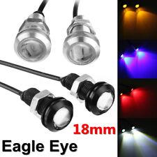 2/4/10x Car LED Eagle Eye Fog Daytime Running DRL Tail Light Backup Lamp 18mm