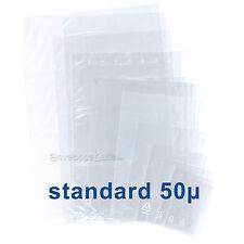 Bolsitas plásticos transparentes SIN cierre - espesor estándar 50µ