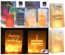12 Oder 20 Leuchttüten für Happy Birthday /träume Papier Lichttüten Candle Bags