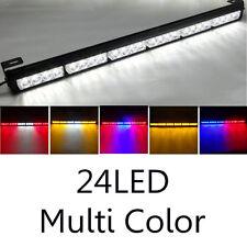 12V 24 LED Magnetic Strobe Flash Lamp Truck Car Warning Lights Emergency Light