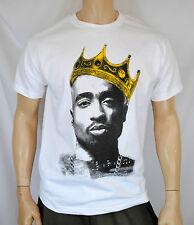 Tupac Shakur King Crown Mens T Shirt Hip-Hop NWA west coast 2pac