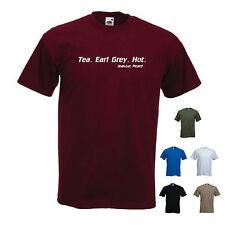 """"""". thé earl grey. chaud."""" Jean-Luc Picard drôle Star Trek T-Shirt de prochaine génération"""
