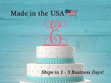 Initial Cake Topper, Wedding Cake, Vine Font, Baby Shower, Teen, Birthday,LT1002