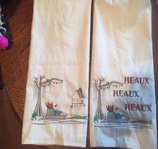 SWAMP SANTA HEAUX TOWELS BATHROOM HAND WASH KITCHEN EMBROIDERED BY LAURA