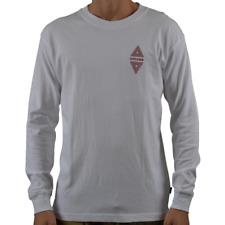 Men's Afends Vava Long Sleeve Tee Shirt Top White
