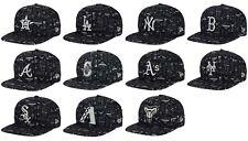 New Era 9FIFTY MLB Geo American/National League Snapback Cap/Hat Black/Gray $32