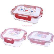 Sanrio Premium LEAD FREE Glass Food Storage Seal Container Oven Freezer Safe