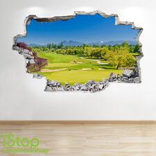 Golf Course adhesivo pared 3d Aspecto - Niños Dormitorio Infantil deporte Z276