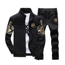 2PCS/Set Men Tracksuit Sports Suit Set Jogging Jacket Hoodies+Long Pants New