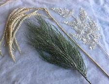 Longue tige glitter paillettes artificiel sapin Fern catkin Décoration de Noël