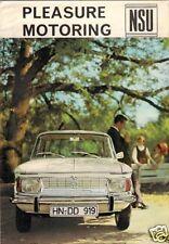 NSU 1965-66 UK mercato opuscolo PRINZ 4 1000 110 TT SPORT COUPE SPIDER Wankel