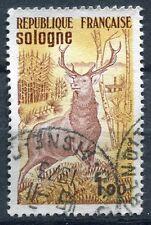 FRANCE TIMBRE OBL N° 1725 SOLOGNE CERF