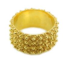 Fede sarda anello Sardegna filigrana fascia 4 file giri argento dorato 925