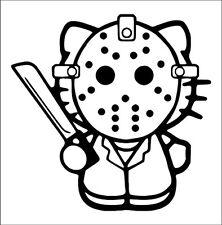 Decal Vinyl Truck Car Sticker - Hello Kitty Jason Voorhees Friday The 13th