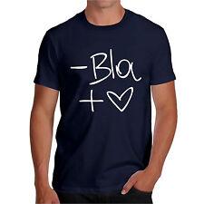 T shirt MENO BLA PIU LOVE maglietta HAPPINES t-shirt divertente PAROLE AMORE VIP