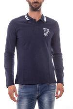 Polo Versace Jeans Polo Shirt % PLAIN Uomo Blu B3GOA7P2-231