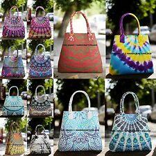 Indian 100% Cotton Mandala Handbag Women's Shopping Designer Purse Large Bag
