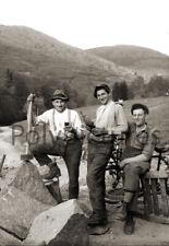 Carriers pierre ouvriers métiers paysage - Repro photo ancienne deb. XXe