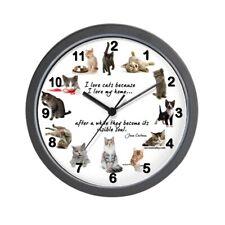"""CafePress WALL CLOCK Cat Lovers Unique Decorative 10"""" Wall Clock (669029965)"""