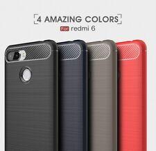 Housse etui coque silicone gel carbone pour Xiaomi Redmi 6 + verre trempe