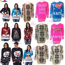 Xmas Ladies Novelty Christmas Sweater Retro Vintage Unisex Womens lot Jumper