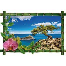 Sticker Bambou déco arbre fond de mer 954