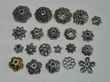 Tibetan Silver Bead caps Findings 5mm, 6mm, 9mm, 10mm, 11mm 12mm ✰✰USA Seller✰✰