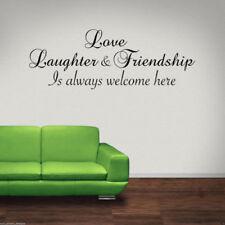 Amor Laughter AMIGO adhesivo pared Pegatina Mural con frase para salón pegatinas