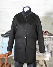 f769ea7e6d54ce Cappotti e giacche da donna neri in lana con bottone automatico ...
