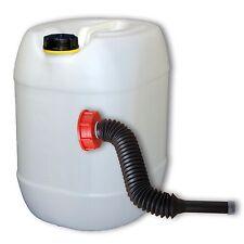 Bidon plastique 30 L DIN 61+1 long Bec verseur flexible, alimentaire (22001+037)