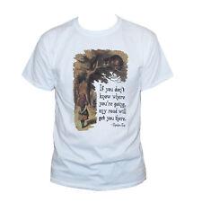 Alice au pays des merveilles Cheshire Cat T shirt citation Unisexe T-shirt graphique toutes tailles