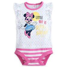 Disney Store Minnie Mouse Bebè Peluche Body Ragazze Misura 0-3 Mesi Nwt