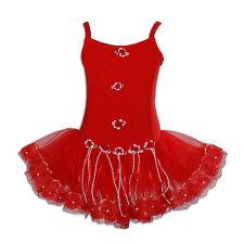 Cinda Girls Ballet Dance Tutu Dress Pink Red White 3 4 5 6 7 8 Years