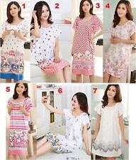 Women Ruffle Nightgown Sleepwear Nightdress Pajamas Lingerie Lounge Home Wear