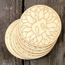 10x legno Pentecoste cristiana immagine DISCHI Craft Forma 3mm Ply COLOMBA IN FIAMMA