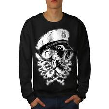 Wellcoda Pirate Swag Head Skull Mens Sweatshirt, Skull Casual Pullover Jumper