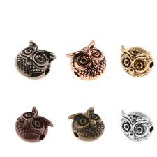 10Pcs Metal Owl Bracelet Necklace Connector Charm Beads Jewelry Craft Design