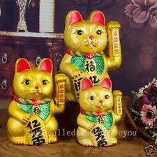 18 ou 21cm Céramique Statuette Chat porte bonheur Maneki Neko Figurine