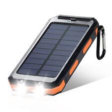 Solar Power Bank 900000mAh Portable Dual USB External Waterproof Battery Charger