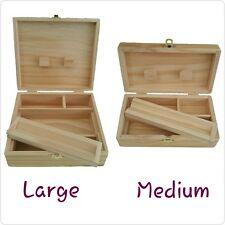 Raw Rolling Supreme Storage Stash Holder Wooden Rolling Box Medium Or Large