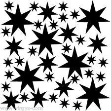 Sticker Planches Etoiles 20x20cm, 30x30cm, Tailles et Coloris Divers (ETO003)