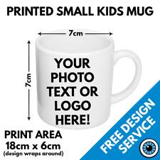 Custom Printed Childrens Mug • Kids Personalised Print Image Photo Bulk Mugs 6oz
