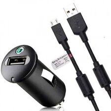 ENTRADA AUTOMÓVIL CARGADOR COCHE ENCENDEDOR + PATCH CORD MICRO USB ORIGINAL SONY